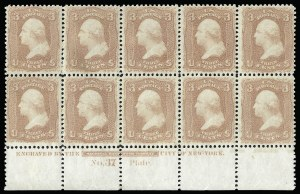 Sale Number 920, Lot Number 64, 1861-66 Issue3c Rose (65), 3c Rose (65)