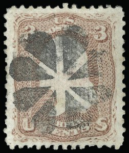 Sale Number 920, Lot Number 85, 1867-68 Grilled Issue3c Rose, Z. Grill (85C), 3c Rose, Z. Grill (85C)