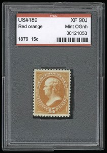 Sale Number 921, Lot Number 536, 1870-88 Bank Note Issues15c Red Orange (189). Mint N.H, 15c Red Orange (189). Mint N.H