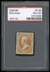 Sale Number 921, Lot Number 538, 1870-88 Bank Note Issues15c Red Orange (189), 15c Red Orange (189)