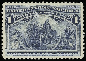 Sale Number 921, Lot Number 549, 1893 Columbian Issue1c Columbian (230), 1c Columbian (230)