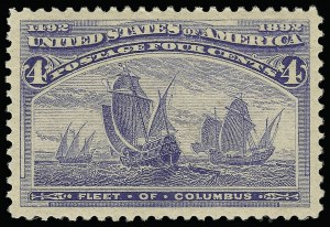 Sale Number 921, Lot Number 552, 1893 Columbian Issue4c Columbian (233), 4c Columbian (233)