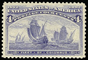 Sale Number 921, Lot Number 553, 1893 Columbian Issue4c Columbian (233), 4c Columbian (233)