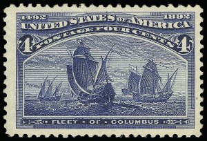 Sale Number 921, Lot Number 554, 1893 Columbian Issue4c Columbian, Error of Color (233a), 4c Columbian, Error of Color (233a)