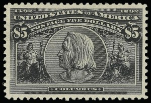 Sale Number 921, Lot Number 566, 1893 Columbian Issue$5.00 Columbian (245), $5.00 Columbian (245)