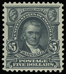 Sale Number 921, Lot Number 611, 1902-08 Issues$5.00 Dark Green (313), $5.00 Dark Green (313)