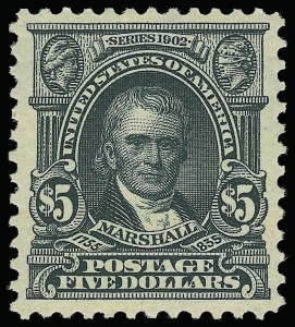 Sale Number 921, Lot Number 612, 1902-08 Issues$5.00 Dark Green (313), $5.00 Dark Green (313)