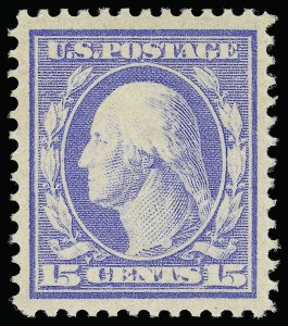 Sale Number 921, Lot Number 647, Washington-Franklin Issues15c Pale Ultramarine (382), 15c Pale Ultramarine (382)