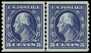 Sale Number 921, Lot Number 676, Washington-Franklin Issues (continued)5c Blue, Coil (447), 5c Blue, Coil (447)