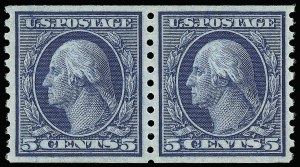 Sale Number 921, Lot Number 679, Washington-Franklin Issues (continued)5c Blue, Coil (458), 5c Blue, Coil (458)