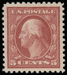 Sale Number 921, Lot Number 697, Washington-Franklin Issues (continued)5c Rose, Error (505), 5c Rose, Error (505)