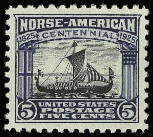 Sale Number 921, Lot Number 732, Later Issues5c Norse-American (621), 5c Norse-American (621)