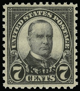 Sale Number 921, Lot Number 737, Later Issues7c Kans. Ovpt. (665), 7c Kans. Ovpt. (665)