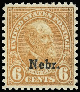 Sale Number 921, Lot Number 742, Later Issues6c Nebr. Ovpt. (675), 6c Nebr. Ovpt. (675)