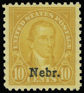 Sale Number 921, Lot Number 746, Later Issues10c Nebr. Ovpt. (679), 10c Nebr. Ovpt. (679)