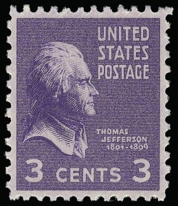 Sale Number 921, Lot Number 751, Later Issues3c Presidential (807), 3c Presidential (807)