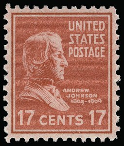 Sale Number 921, Lot Number 760, Later Issues17c Presidential (822), 17c Presidential (822)