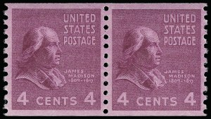 Sale Number 921, Lot Number 766, Later Issues4c Presidential, Coil (843), 4c Presidential, Coil (843)