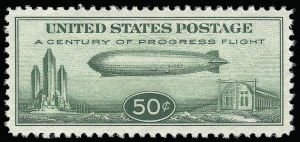 Sale Number 921, Lot Number 794, Air Post50c Chicago Zeppelin (C18), 50c Chicago Zeppelin (C18)