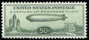 Sale Number 921, Lot Number 795, Air Post50c Chicago Zeppelin (C18), 50c Chicago Zeppelin (C18)