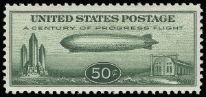 Sale Number 921, Lot Number 796, Air Post50c Chicago Zeppelin (C18), 50c Chicago Zeppelin (C18)