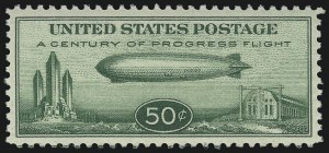 Sale Number 921, Lot Number 797, Air Post50c Chicago Zeppelin (C18), 50c Chicago Zeppelin (C18)