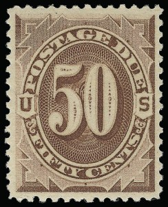 Sale Number 921, Lot Number 809, Postage Dues50c Red Brown (J21). Mint N.H, 50c Red Brown (J21). Mint N.H