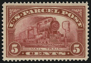 Sale Number 921, Lot Number 825, Newspapers and Periodicals thru Parcel Post5c Parcel Post (Q5), 5c Parcel Post (Q5)