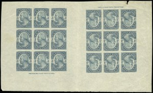 Sale Number 922, Lot Number 1014, Essays3c Washington, Plate Essay on Stamp Paper, Imperforate (184-E4c), 3c Washington, Plate Essay on Stamp Paper, Imperforate (184-E4c)
