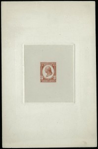 Sale Number 922, Lot Number 1019, EssaysContinental Bank Note Co., 3c Dull Scarlet, Washington Large Die Essay on India (184-E12a), Continental Bank Note Co., 3c Dull Scarlet, Washington Large Die Essay on India (184-E12a)
