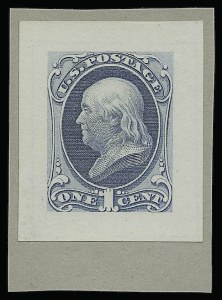 Sale Number 922, Lot Number 1026, Die Proofs1c Ultramarine, Small Die Proof on Wove (145P2), 1c Ultramarine, Small Die Proof on Wove (145P2)