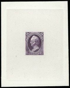 Sale Number 922, Lot Number 1035, Die Proofs24c Purple, Large Die Proof on India (153P1), 24c Purple, Large Die Proof on India (153P1)