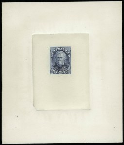 Sale Number 922, Lot Number 1045, Die Proofs5c Blue, Large Die Proof on India (185P1), 5c Blue, Large Die Proof on India (185P1)