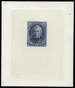 Sale Number 922, Lot Number 1046, Die Proofs5c Blue, Large Die Proof on India (185P1), 5c Blue, Large Die Proof on India (185P1)