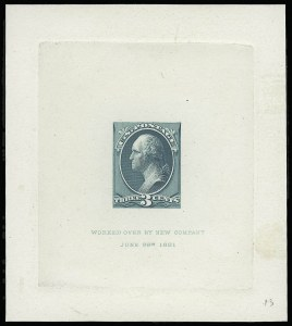 Sale Number 922, Lot Number 1047, Die Proofs3c Blue Green, Large Die Proof on India (207P1), 3c Blue Green, Large Die Proof on India (207P1)