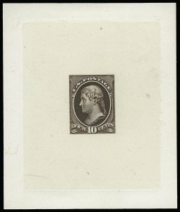 Sale Number 922, Lot Number 1048, Die Proofs10c Brown, Large Die Proof on India (209P1), 10c Brown, Large Die Proof on India (209P1)