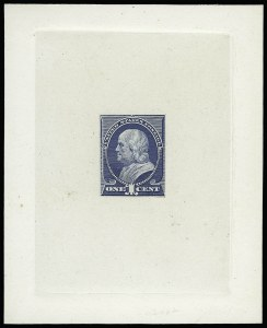 Sale Number 922, Lot Number 1054, Die Proofs1c Ultramarine, Large Die Proof on India (212P1), 1c Ultramarine, Large Die Proof on India (212P1)