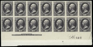 Sale Number 922, Lot Number 1067, Plate Proofs12c Blackish Violet, Plate Proof on India (162P3), 12c Blackish Violet, Plate Proof on India (162P3)
