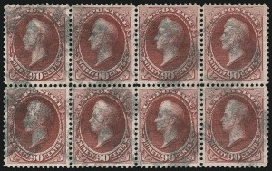 Sale Number 922, Lot Number 1082, 1870-88 Issue Multiples90c Carmine (155), 90c Carmine (155)