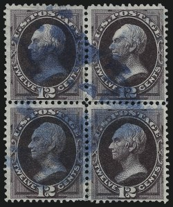 Sale Number 922, Lot Number 1084, 1870-88 Issue Multiples12c Blackish Violet (162), 12c Blackish Violet (162)
