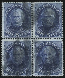 Sale Number 922, Lot Number 1086, 1870-88 Issue Multiples5c Blue (179), 5c Blue (179)