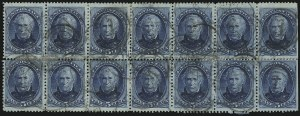 Sale Number 922, Lot Number 1087, 1870-88 Issue Multiples5c Blue (185), 5c Blue (185)