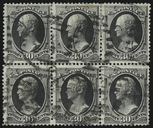 Sale Number 922, Lot Number 1089, 1870-88 Issue Multiples30c Full Black (190), 30c Full Black (190)