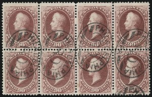 Sale Number 922, Lot Number 1090, 1870-88 Issue Multiples90c Carmine (191), 90c Carmine (191)