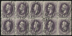 Sale Number 922, Lot Number 1094, 1870-88 Issue Multiples90c Purple (218), 90c Purple (218)