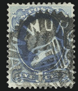 Sale Number 922, Lot Number 1131, Fancy Cancellations1c Ultramarine (156), 1c Ultramarine (156)