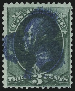 Sale Number 922, Lot Number 1133, Fancy Cancellations3c Green (158), 3c Green (158)