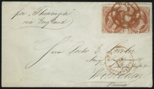 Sale Number 922, Lot Number 1178, New York Foreign Mail Cancels On Cover 7c Orange Vermilion (160), 7c Orange Vermilion (160)