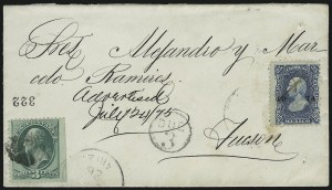 Sale Number 922, Lot Number 1252, Mexican Mails3c Green (158), 3c Green (158)