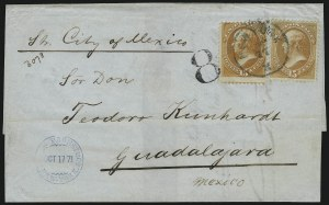 Sale Number 922, Lot Number 1253, Mexican Mails15c Bright Orange (152), 15c Bright Orange (152)
